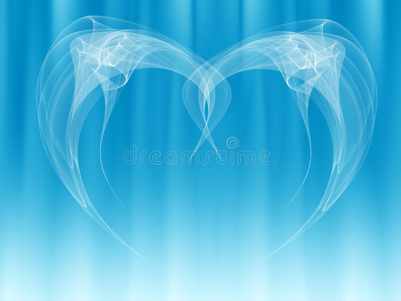 Angel wings abstract. Background with abstract angel wings and blue color