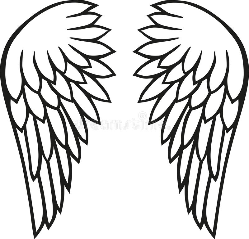 Angel wings freedom. Angel wings bird feather freedom vector vector illustration