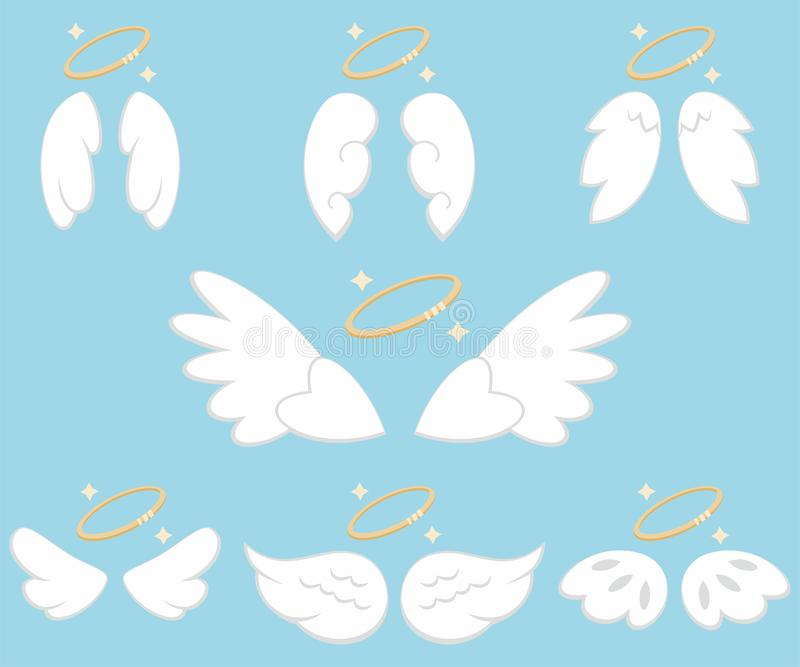 Angel wings. Cartoon vector set stock photo