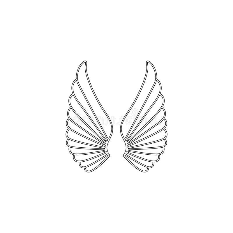 Angel Wings ?cone liso do vetor ilustração stock