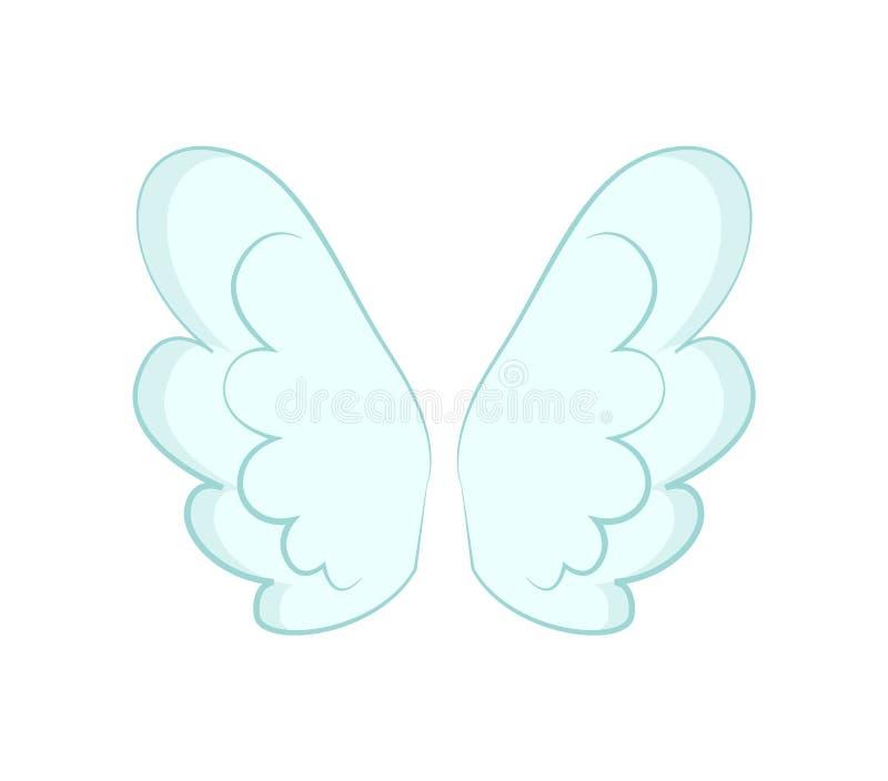 Angel Wings d'objet de plumes blanches illustration de vecteur