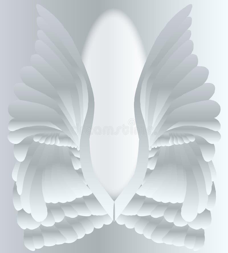 Angel Wings de prata ilustração royalty free