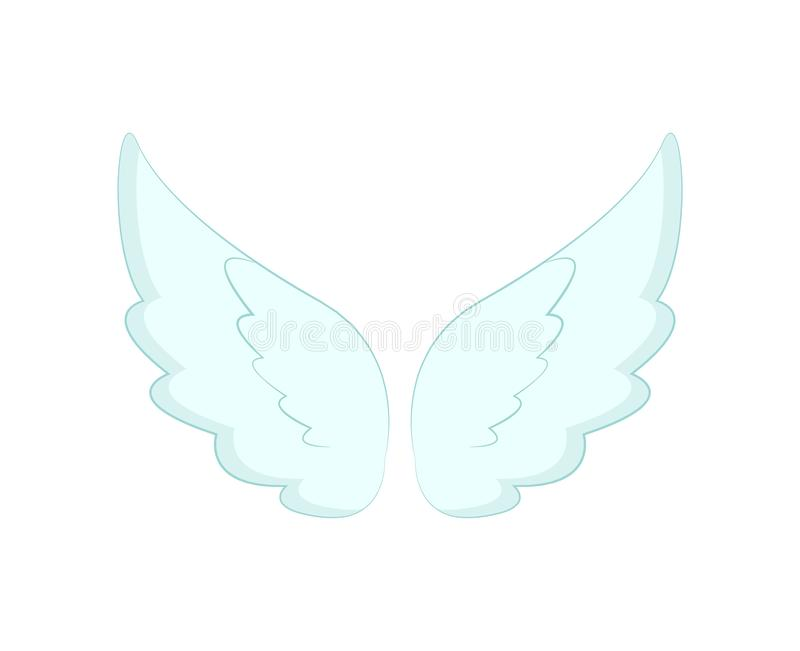 Angel Wings des plumes blanches a isol? l'objet illustration stock