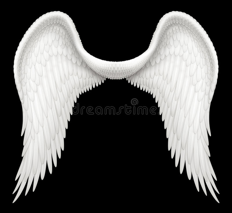 Angel Wings. Digital illustration of angel wings. Including a Clipping Path, it is ready to be composited with other images stock illustration