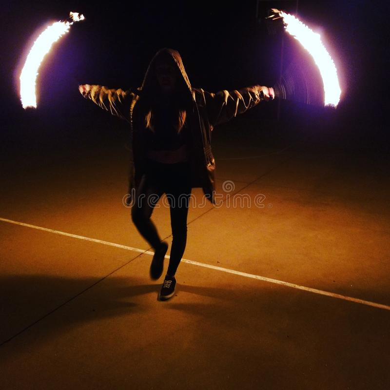 Fire poi stock images