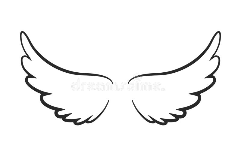 Angel wings icon - vector illustration