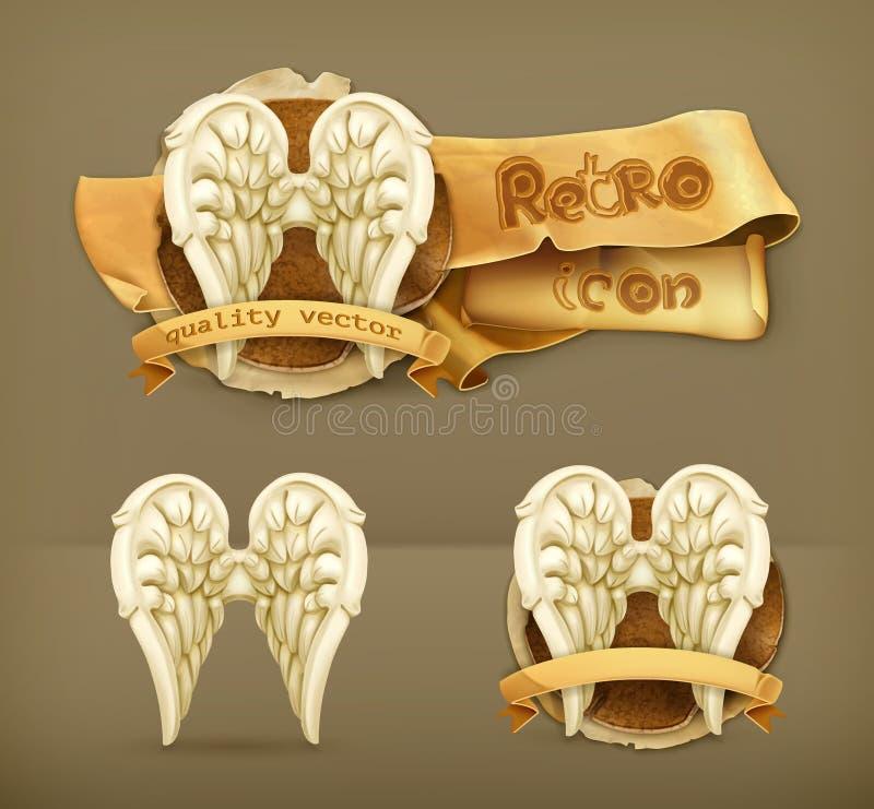 Angel wings icons. Angel wings, vector illustration icon vector illustration