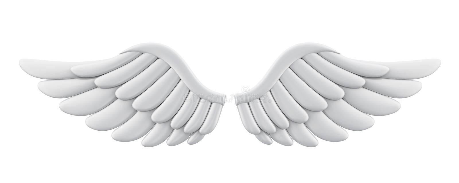 Angel Wings Isolated blanc illustration libre de droits