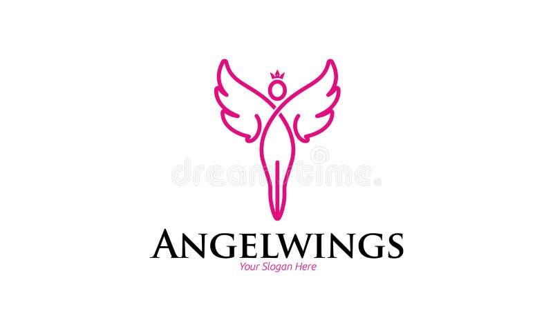 Angel Wings Logo ilustração stock