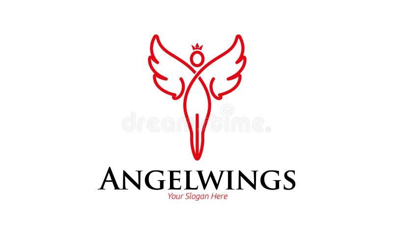 Angel Wings Logo Template ilustração royalty free