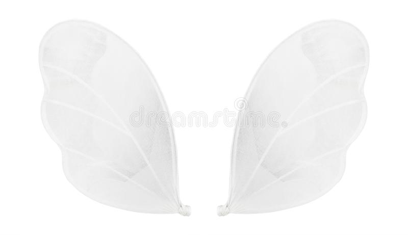 Angel wings made from soft fabric isolated on white background. Cupid style. Clipping path stock images