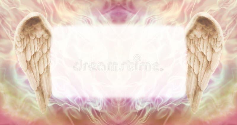 Angel Wings Message Board ilustração do vetor