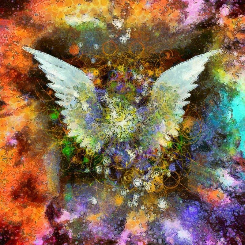 Angel Wings Oil Painting ilustração do vetor