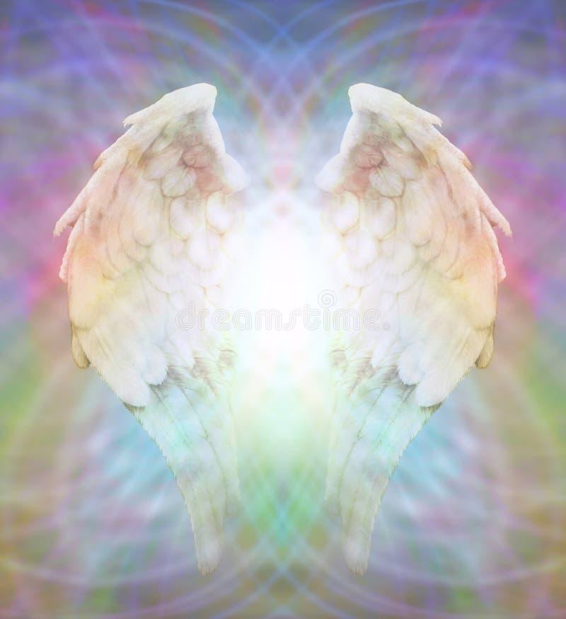 Angel Wings på mångfärgad matrisrengöringsduk vektor illustrationer