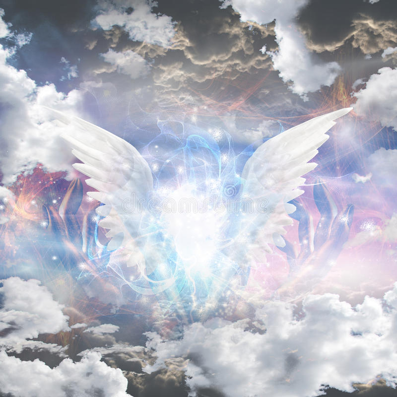 Free Angel Wings Pull Apart Seam Of Mortals Reveal Royalty Free Stock Photography - 51366497