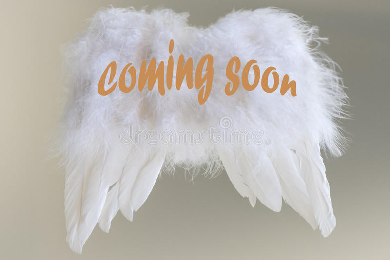 Christmas coming soon - Angel wings royalty free stock image