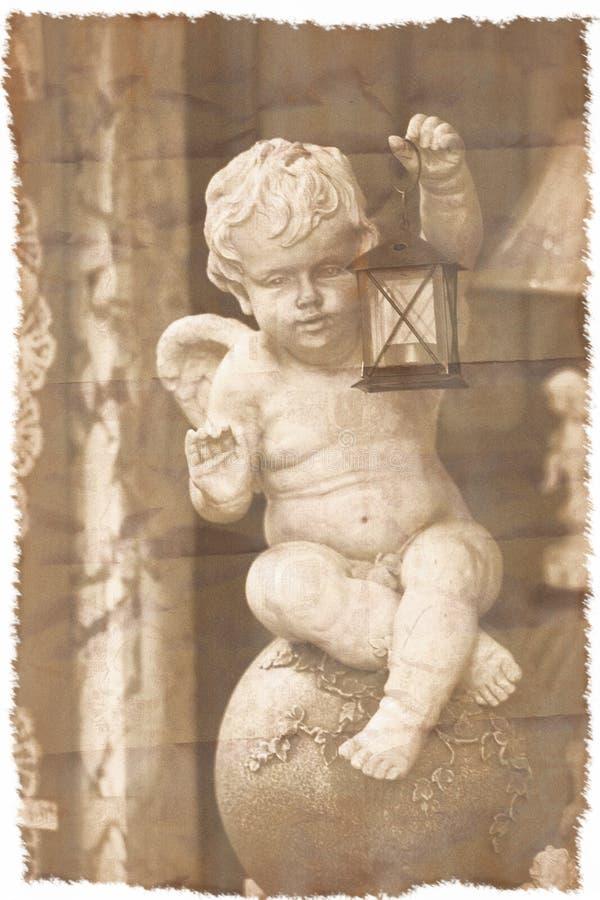 Angel wishing card stock image