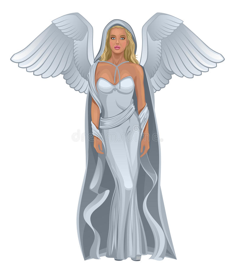 Download Angel woman stock vector. Image of girl, drawing, holy - 23049959