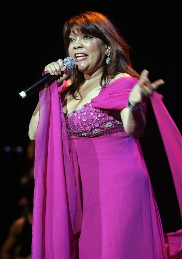 Angela Carrasco performs in concert stock photo