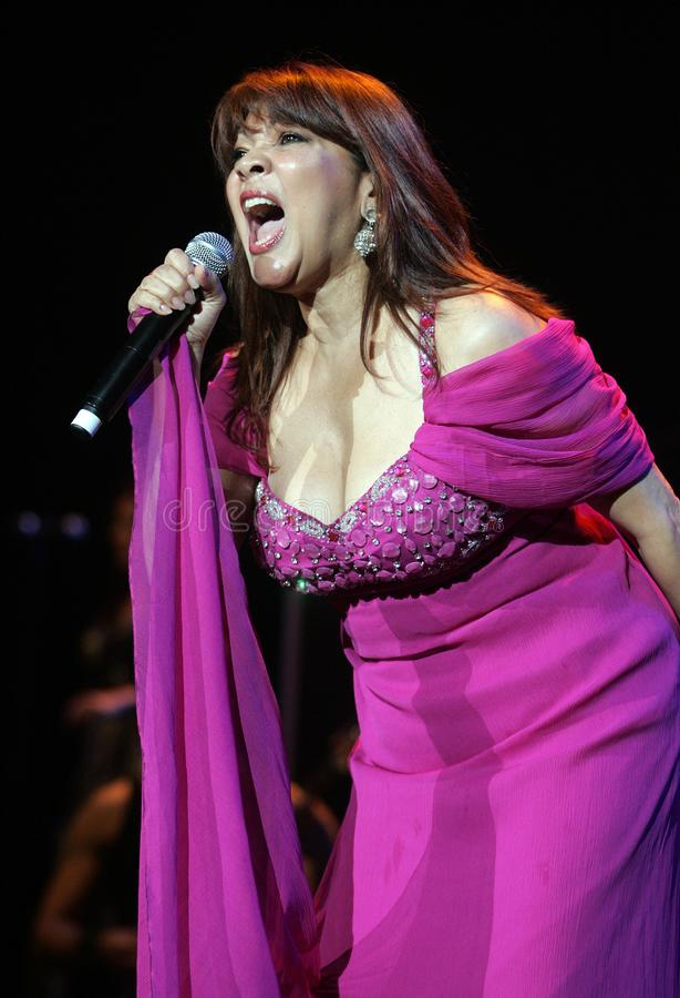 Angela Carrasco performs in concert stock image