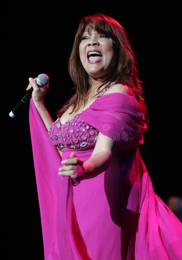 Angela Carrasco performs in concert stock photography