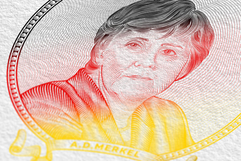 Angela Dorothea Merkel royalty ilustracja