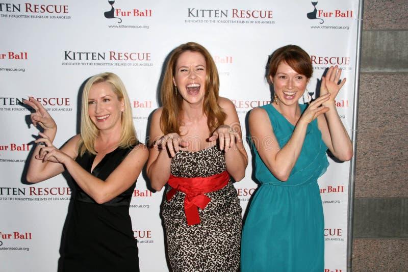 Angela Kinsey,Ellie Kemper,Jenna Fischer royalty free stock photos