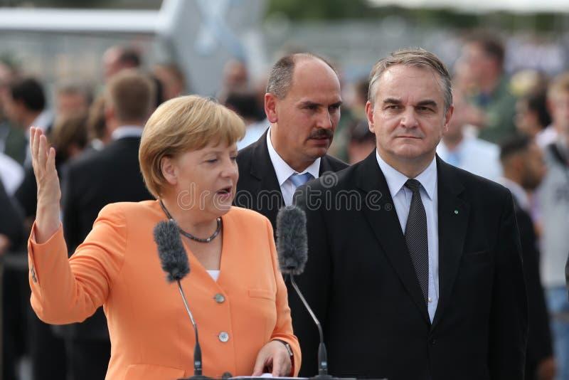 Angela Merkel和Waldemar Pawlak 图库摄影