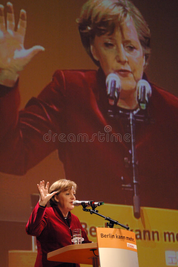 Angela Merkel immagine stock