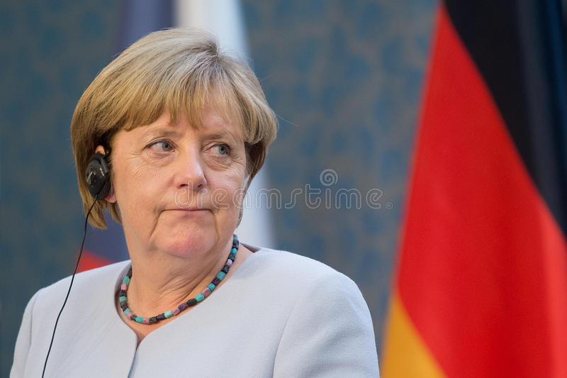 Angela merkel στοκ εικόνα