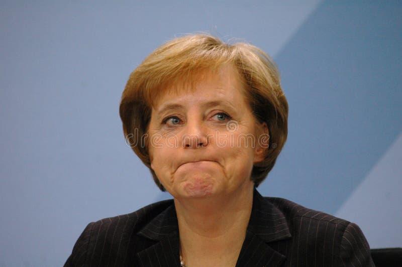 Angela Merkel. DECEMBER 14, 2005 - BERLIN: Chancellor Angela Merkel at a press conference in the Chanclery, Berlin stock photo
