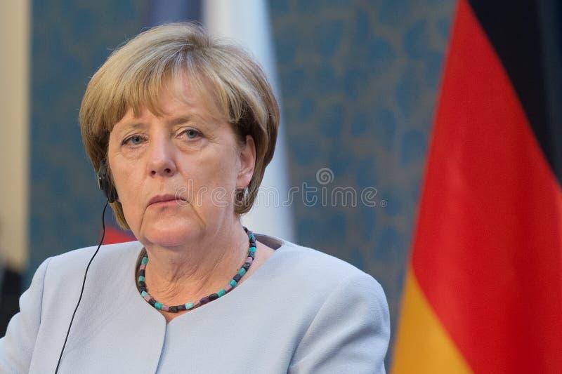 Angela Merkel. German Chancellor Angela Merkel during her visit in Prague, Czech republic, August 25, 2016 royalty free stock photography