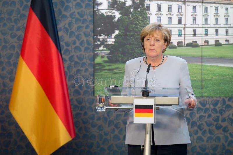 Angela Merkel. German Chancellor Angela Merkel during her visit in Prague, Czech republic, August 25, 2016 stock photography