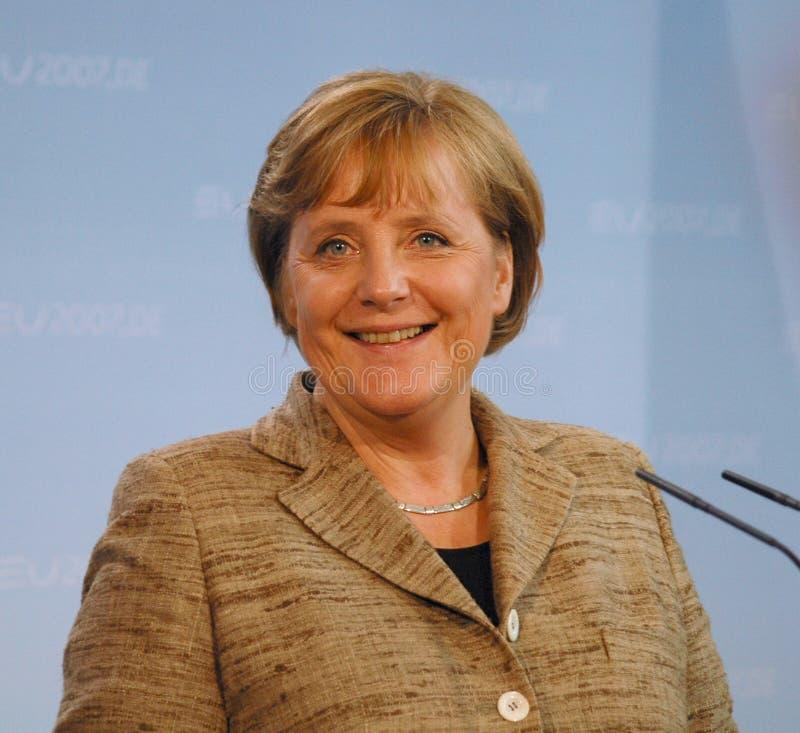 Angela Merkel. JUNE 4, 2007 - BERLIN: Chancellor Angela Merkel at a prss conference inn the Chanclery in Berlin stock images