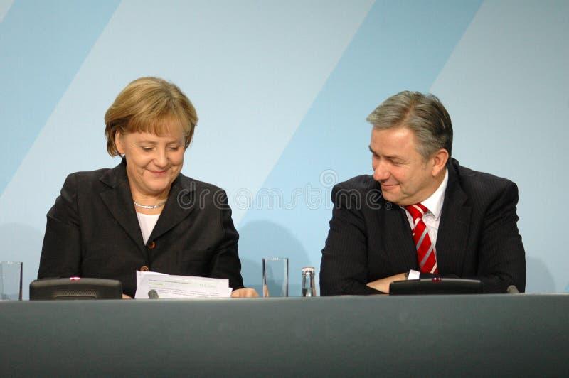 Angela Merkel, Klaus Wowereit stockfoto