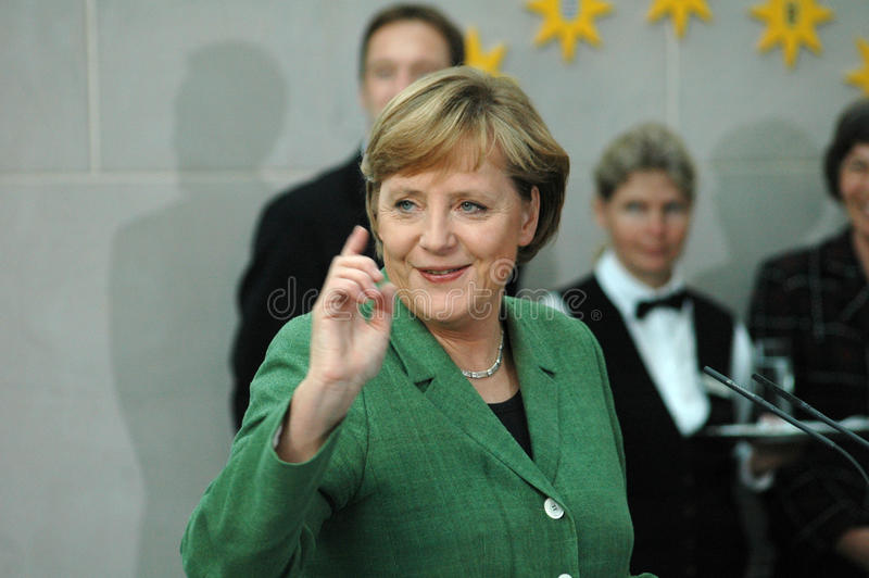 Angela Merkel. MAY 24, 2006 - BERLIN: Chancellor Angela Merkel at a reception for members of the PEN Congress in the Chanclery in Berlin royalty free stock images