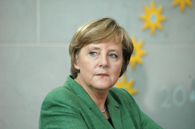 Angela Merkel. MAY 24, 2006 - BERLIN: Chancellor Angela Merkel at a reception for members of the PEN Congress in the Chanclery in Berlin stock photo