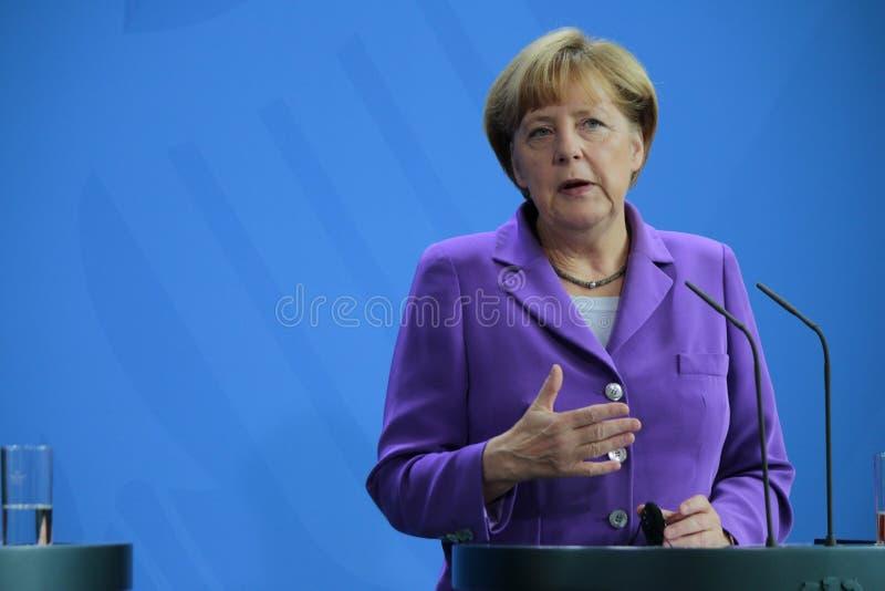 Angela Merkel. OCTOBER 9, 2014 - BERLIN: Angela Merkel - meeting of the German Chancellor with the new Polish Prime Minister, Chanclery, Berlin stock image