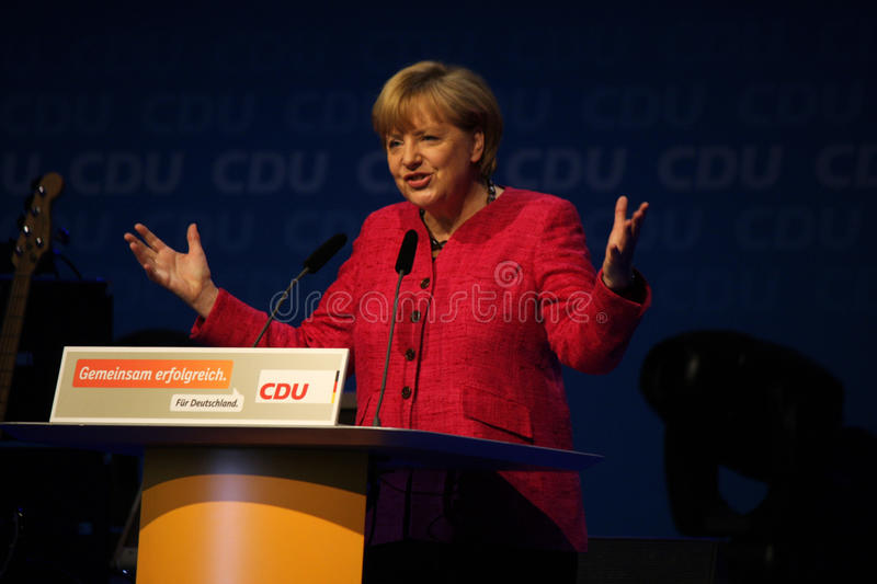 Angela Merkel. SEPTEMBER 21, 2013 - BERLIN: Chancellor Angela Merkel at an election rally one day before the general elections in Germany in Berlin stock photos