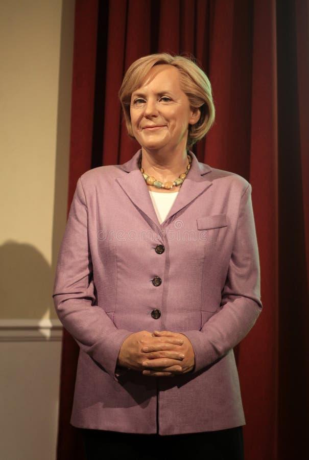 Angela Merkel. Wax statue at Madame Tussauds in London royalty free stock photo