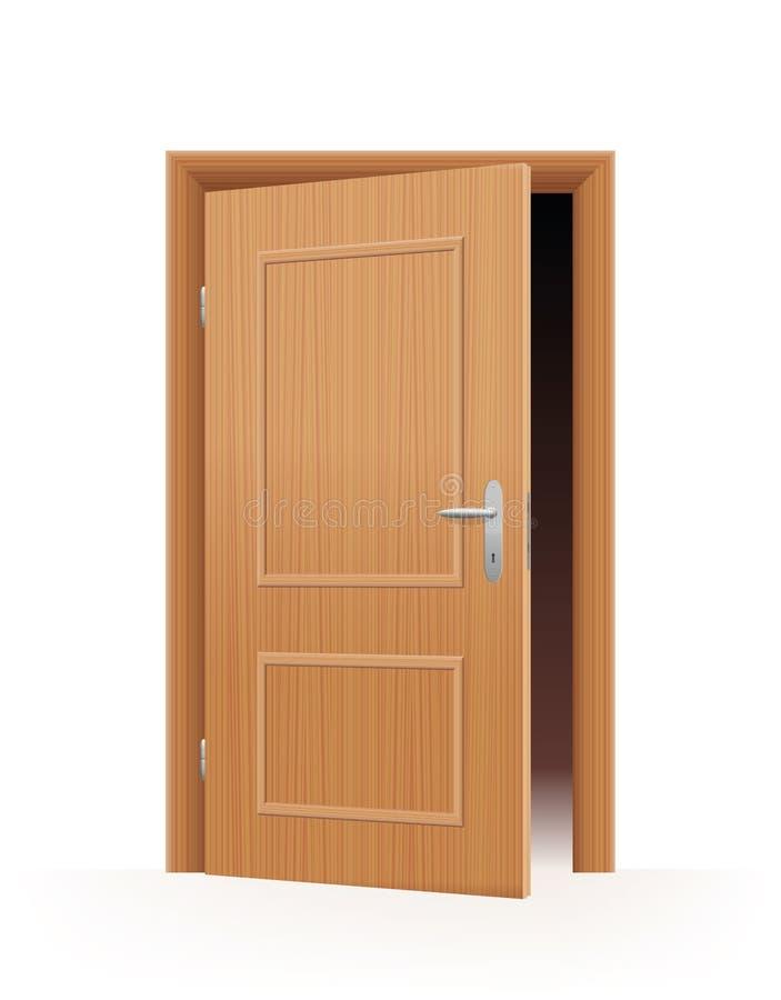 Angelehnte Tür vektor abbildung