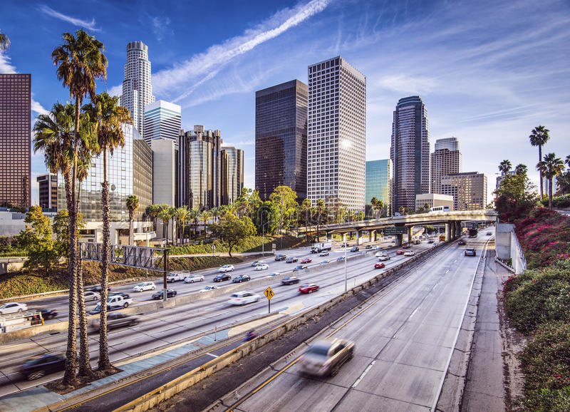 Angeles στο κέντρο της πόλης Los στοκ φωτογραφίες