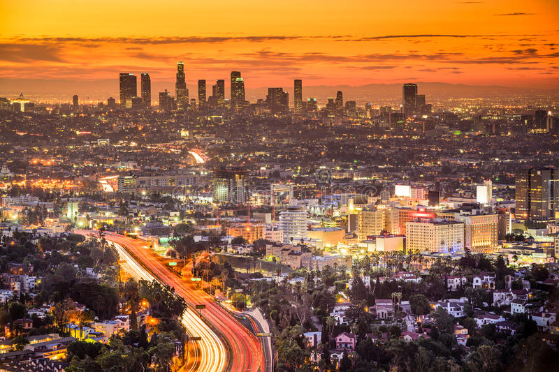 angeles cityscape los royaltyfri foto