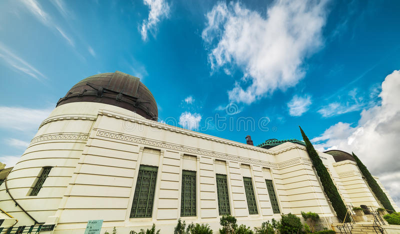 angeles griffith los observatorium arkivbild