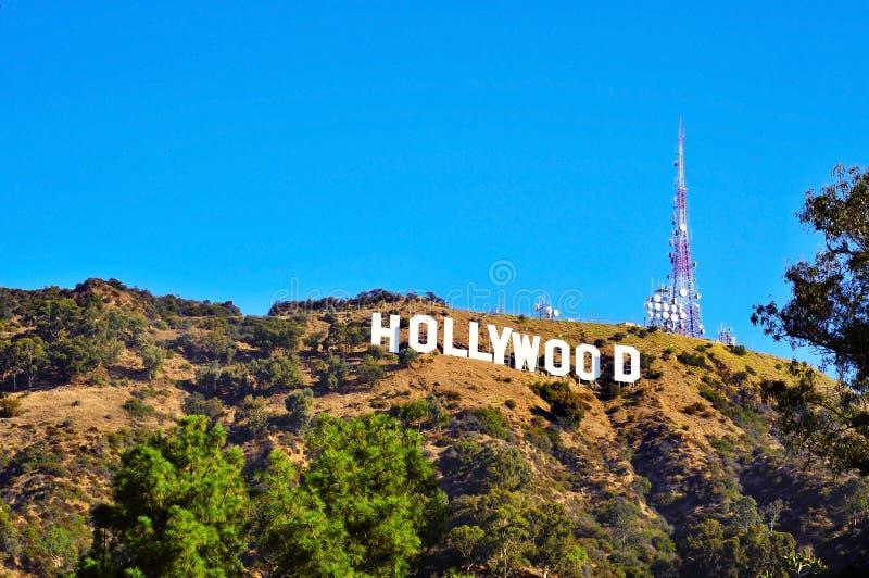 angeles Hollywood lee los góry znak fotografia royalty free