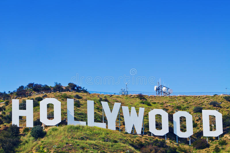 angeles Kalifornien hollywood iconic los tecken royaltyfria foton