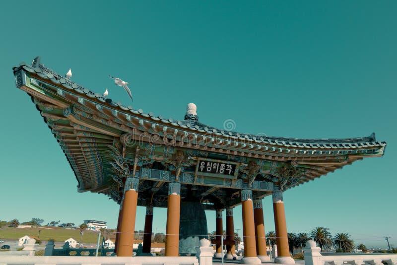 angeles koreansk los monument royaltyfria foton
