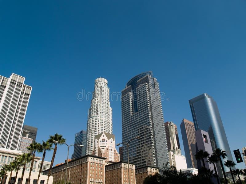 angeles los skyskrapor arkivfoton