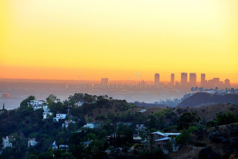 angeles los solnedgång arkivbilder