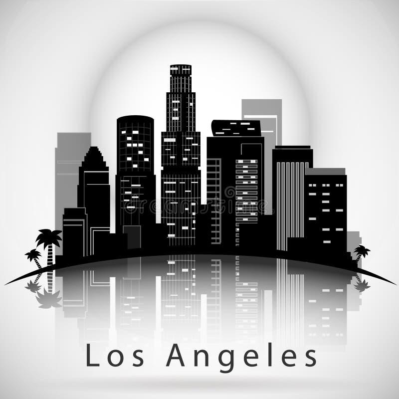 angeles miasta los linia horyzontu Typograficzny projekt